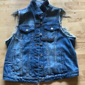 BLANKNYC Distressed Jean Vest